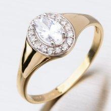 Dámský zlatý prsten 41-NF199