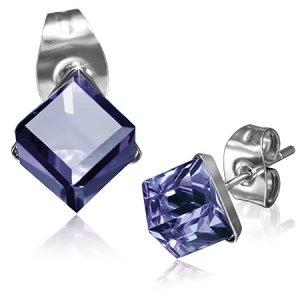 Náušnice s modrým krystalem GXRY272