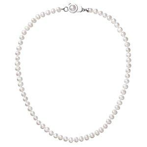 Perlový náhrdelník z pravých říčních perel bílý 22006.1 22006.1