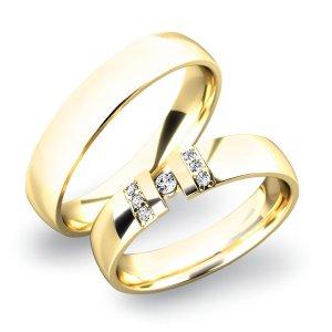 Zlaté snubní prsteny SP-61017Z