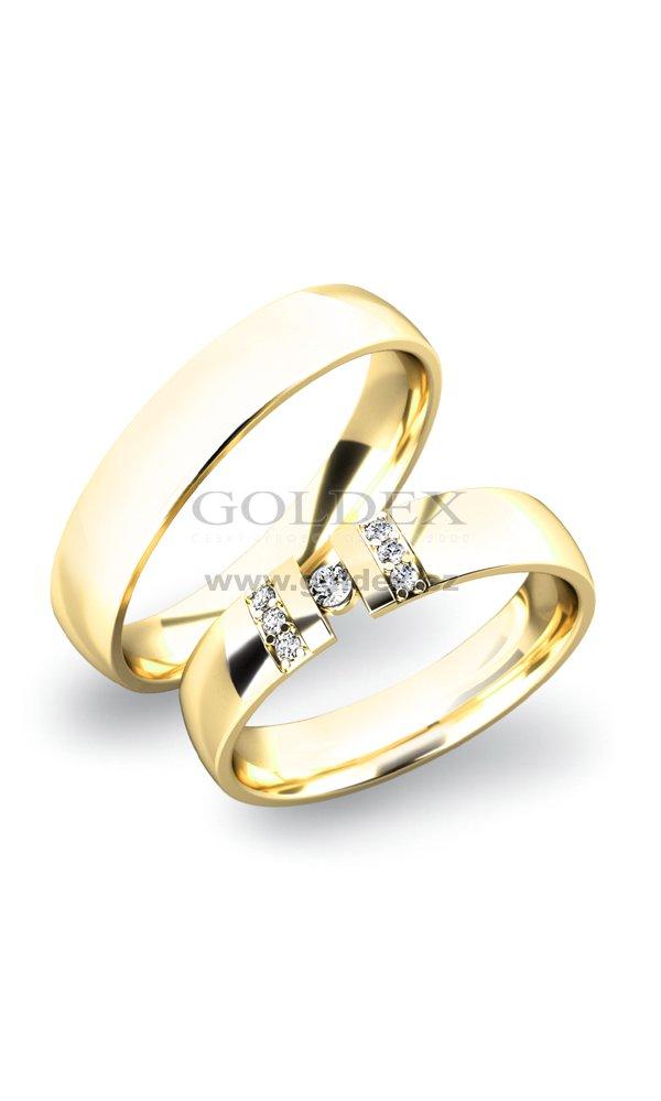 Zlate Snubni Prsteny Sp 61017z Goldex Cz