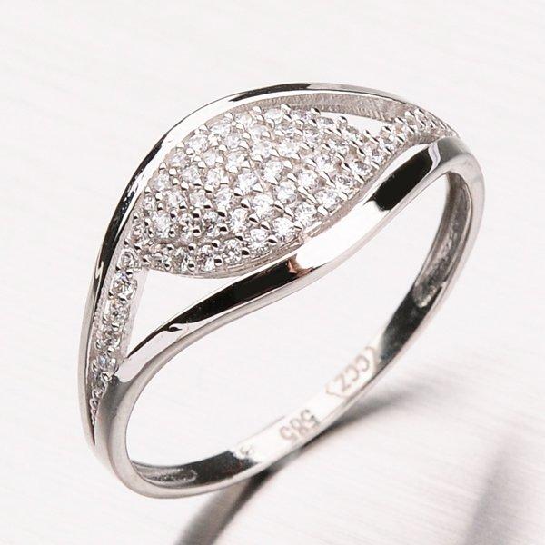 Prsten z bílého zlata 11-185