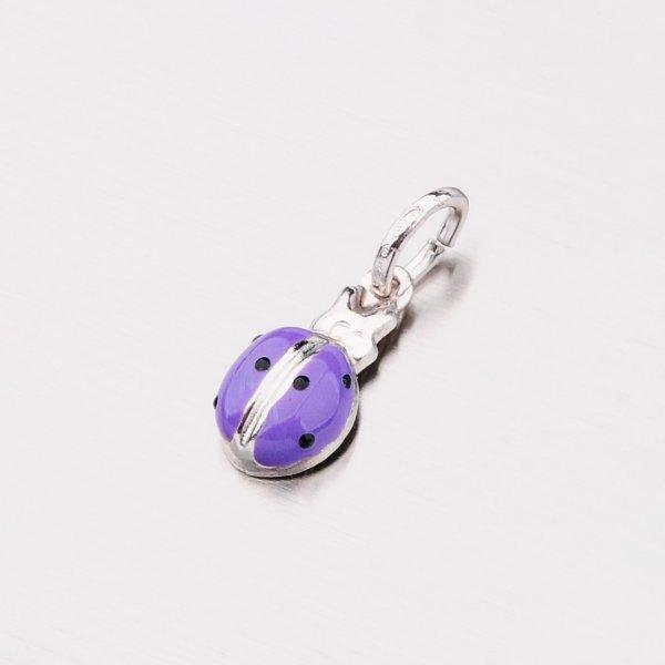 Stříbrný přívěsek - fialová beruška M570988SM-PURPLE