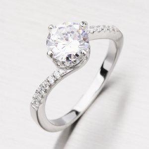 Prsten se zirkony GLM11-001