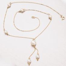Zlatý perlový náhrdelník 45-1836