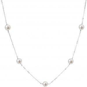 Perlový náhrdelník z pravých říčních perel bílý 22015.1 22015.1