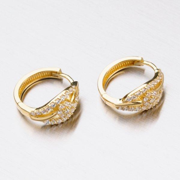 Zdobené zlaté kroužky 12-333