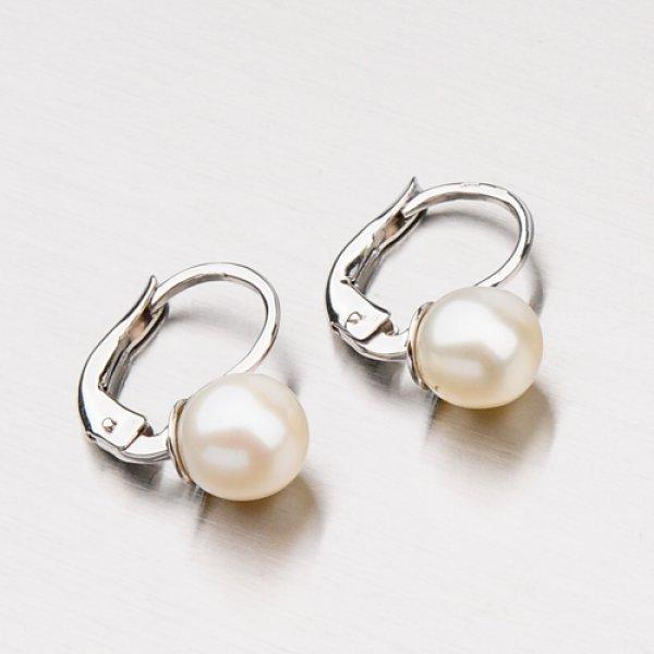 Zlaté náušnice s perlou 12-339