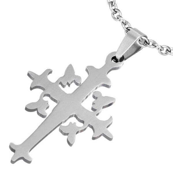 Ocelový přívěsek - křížek GTPB173
