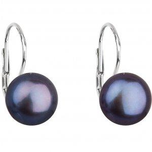 Náušnice s modrou perlou 21009.3
