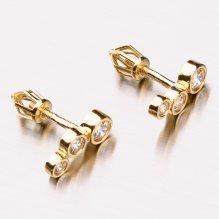Zlaté pecky se zirkony 42-32187