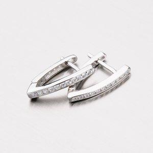 Stříbrné náušnice se zirkony EXX07180614