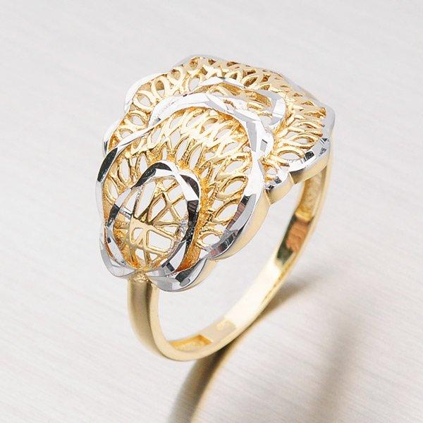 Prsten ze zlata s lesklými facetami 11-153