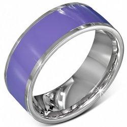 Prsten z chirurgické oceli v fialové barvě GVRR302