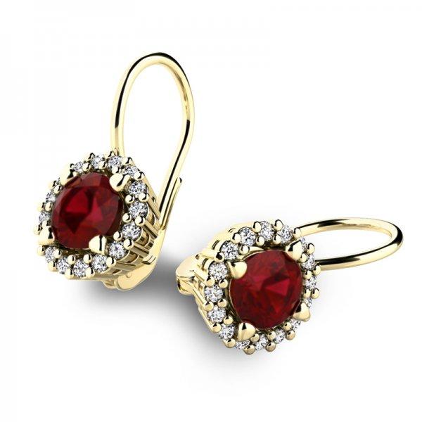Luxusní náušnice s diamanty 10925-ZL-GRA