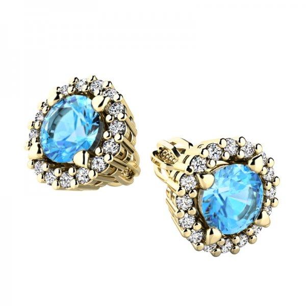 Luxusní náušnice s diamanty 10926-ZL-TPZ