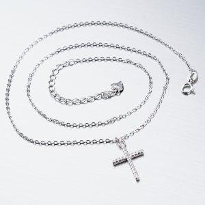 Stříbrný náhrdelník s křížkem SST-15849