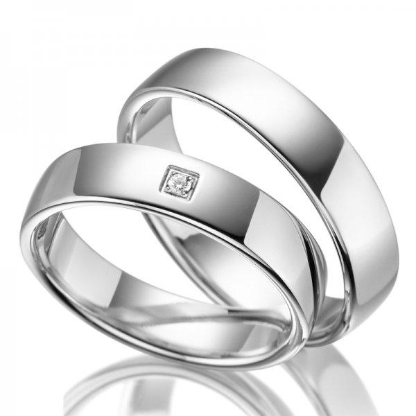 Stříbrné snubní prsteny SP-SI-001