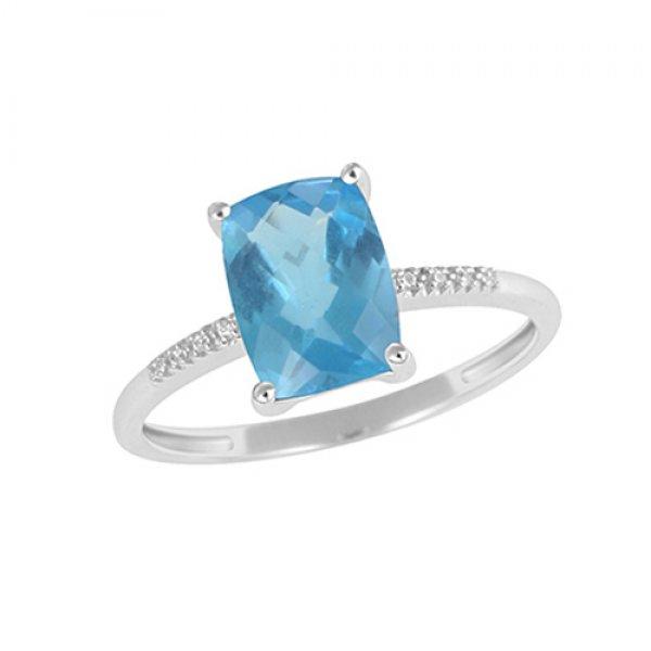 Prsten s diamanty a s topazem GKW48533TPZ