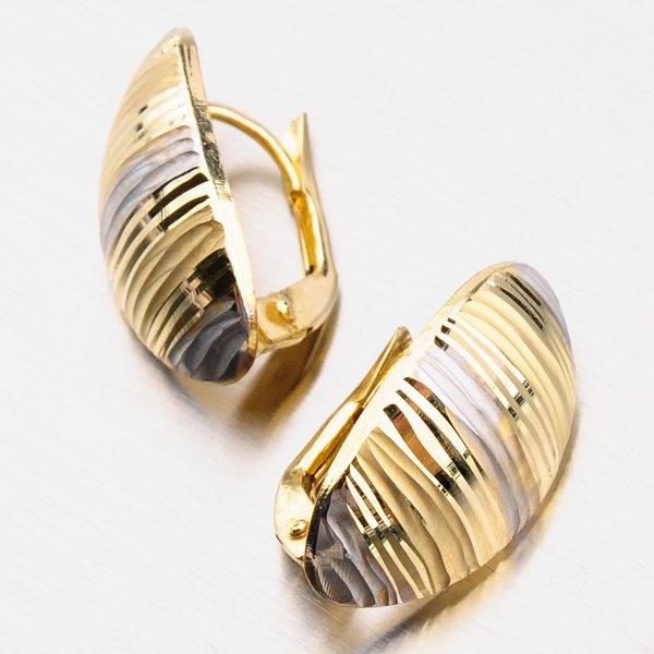Zlaté náušnice 12-490