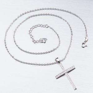 Stříbrný náhrdelník s křížkem SST-15979