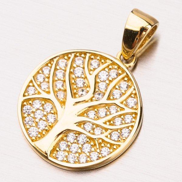 Zlatý přívěsek strom života 13-240