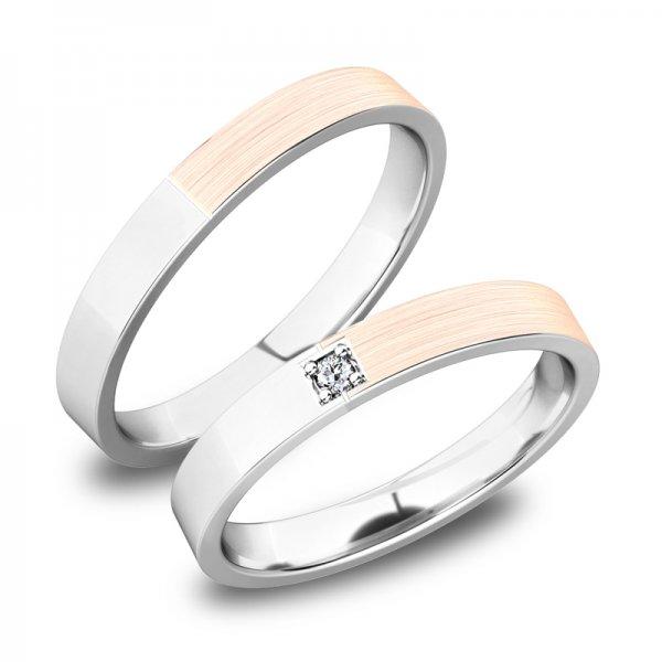 Snubní prsteny ze zlata SP-61085B