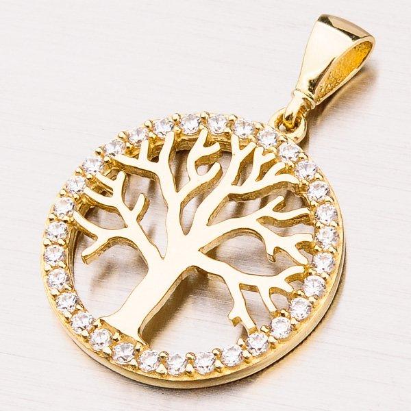 Zlatý přívěsek strom života 13-241