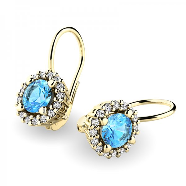 Luxusní náušnice s diamanty 10925-ZL-TPZ
