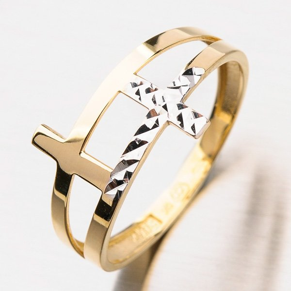 Zlatý dámský prsten 11-235