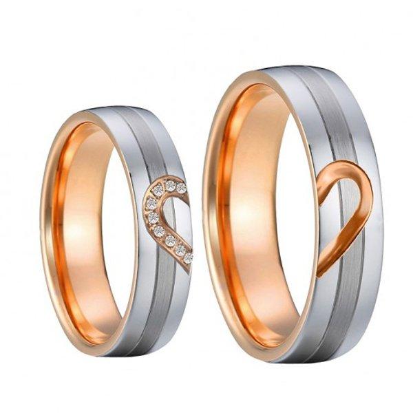 Ocelové snubní prsteny SP-7040