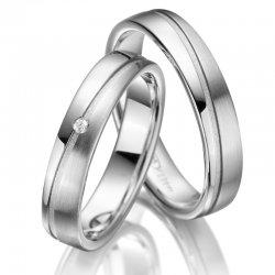 Stříbrné snubní prsteny SP-SI-011