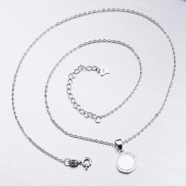 Stříbrný náhrdelník se zirkony SETST-15187R