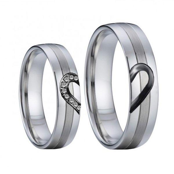 Ocelové snubní prsteny SP-7041
