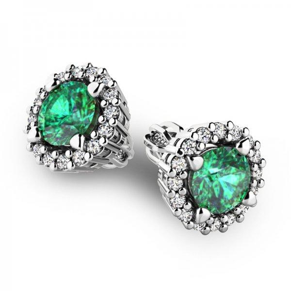 Luxusní náušnice s diamanty 10926-B-SMAR