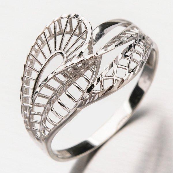 Prsten z bílého zlata 11-249