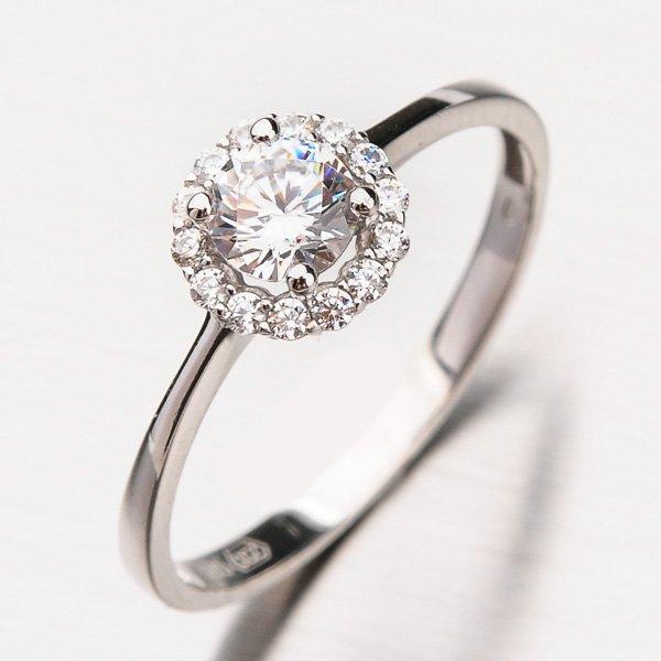 Zlatý prsten se zirkony 11-215