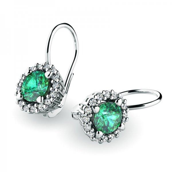 Luxusní náušnice s diamanty 10925-B-SMAR