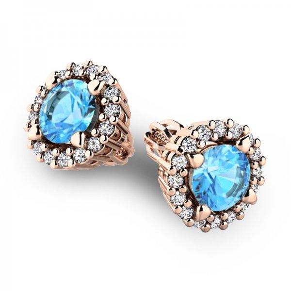 Luxusní náušnice s diamanty 10926-CV-TPZ