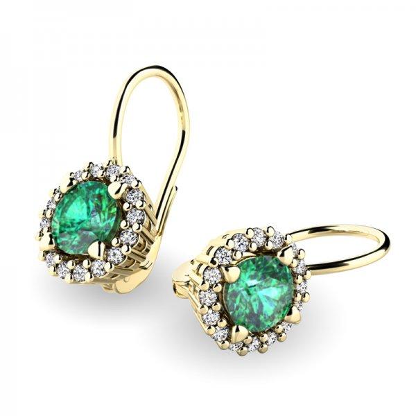 Luxusní náušnice s diamanty 10925-ZL-SMAR