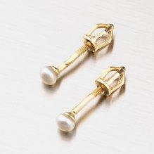 Zlaté pecky s přírodní perlou 42-31560