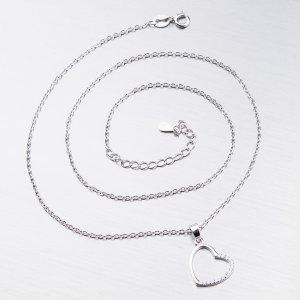 Stříbrný náhrdelník se zirkony SST-15977