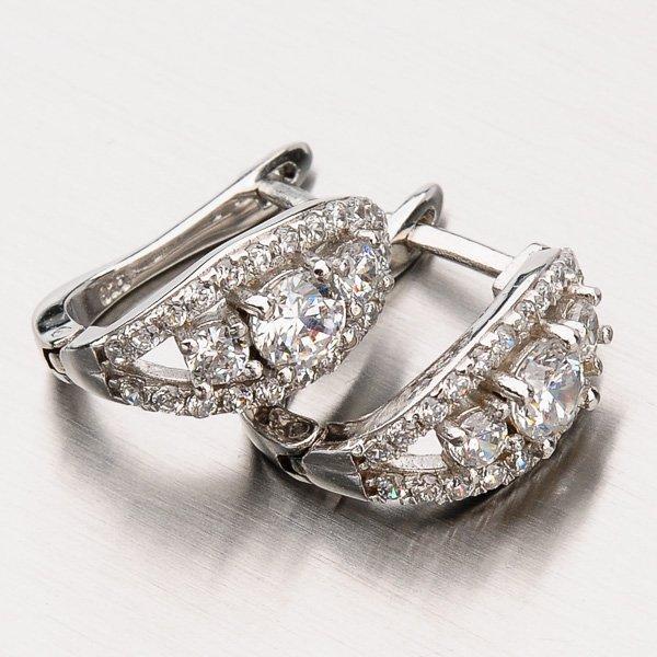 Náušnice ze stříbra EZX07140063