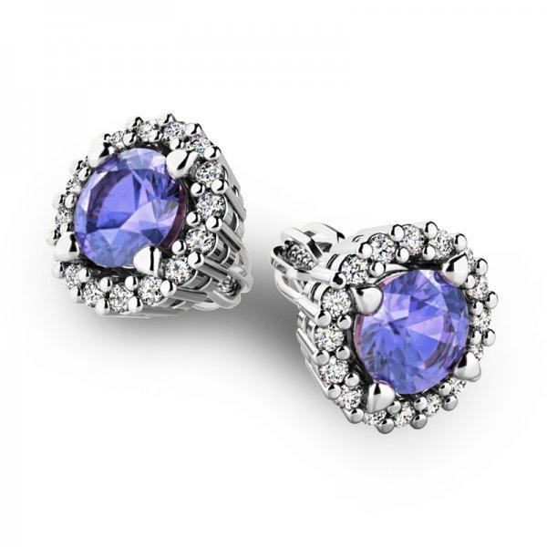 Luxusní náušnice s diamanty 10926-B-TAN