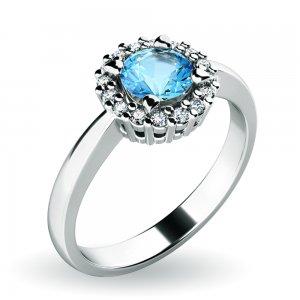 Dámský prsten s topazem a brilianty 10924-B-TPZ
