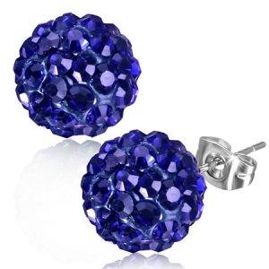 Náušnice s modrými kamínky GXRY330