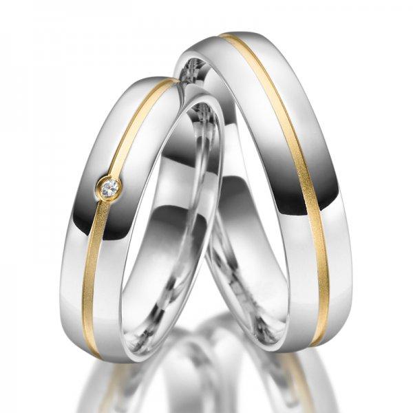 Stříbrné snubní prsteny SP-SI-025