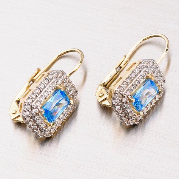 Zlaté náušnice se zirkony 42-32258