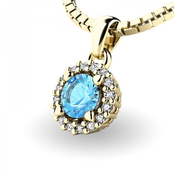 Luxusní přívěsek s diamanty 10927-ZL-TPZ