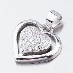 Stříbrné srdce HST-13220